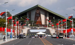 The Papua New Guinea parliament building in central Port Moresby