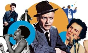 Their way … Paul Anka, Aretha Franklin, David Bowie, Frank Sinatra, Jay-Z and Sid Vicious.