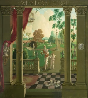 """Ave Silvae Dornii, 1928, Rex Whistler (1905–1944), National Trust, Dorneywood"""