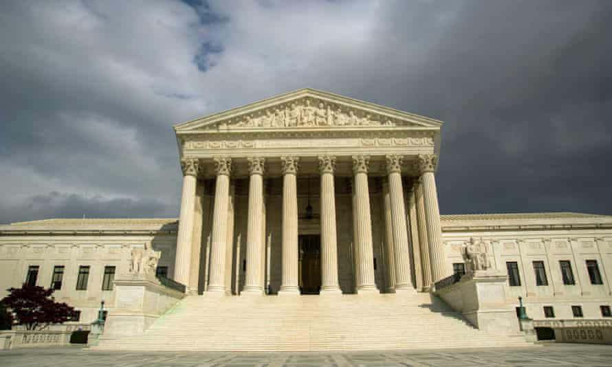 The US supreme court building.