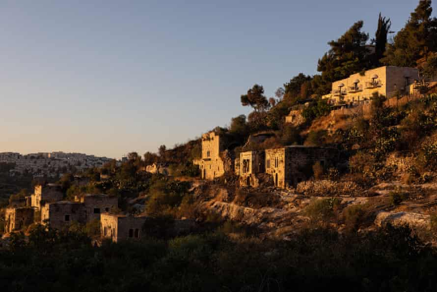 The ancient Palestinian village of Lifta, which was left abandoned when its residents fled during the 1948 war.