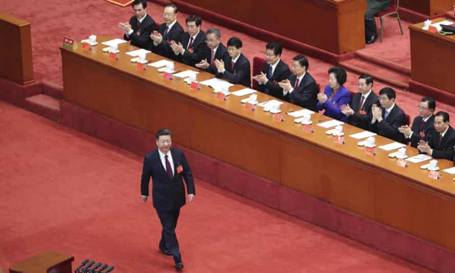 Xi Jinping opens the 19th National Congress of the Communist Party of China.