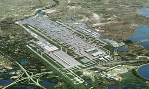Artist's impression showing how Heathrow could look with a third runway