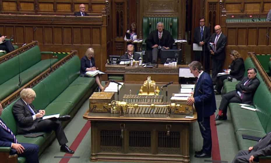 Labour leader Sir Keir Starmer responds to a statement in the Commons by Boris Johnson.