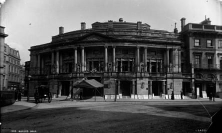 The Queen's Hall in Langham Place, London, 1894. The hall was the venue for the promenade concerts until it was burned out during the blitz in 1941.