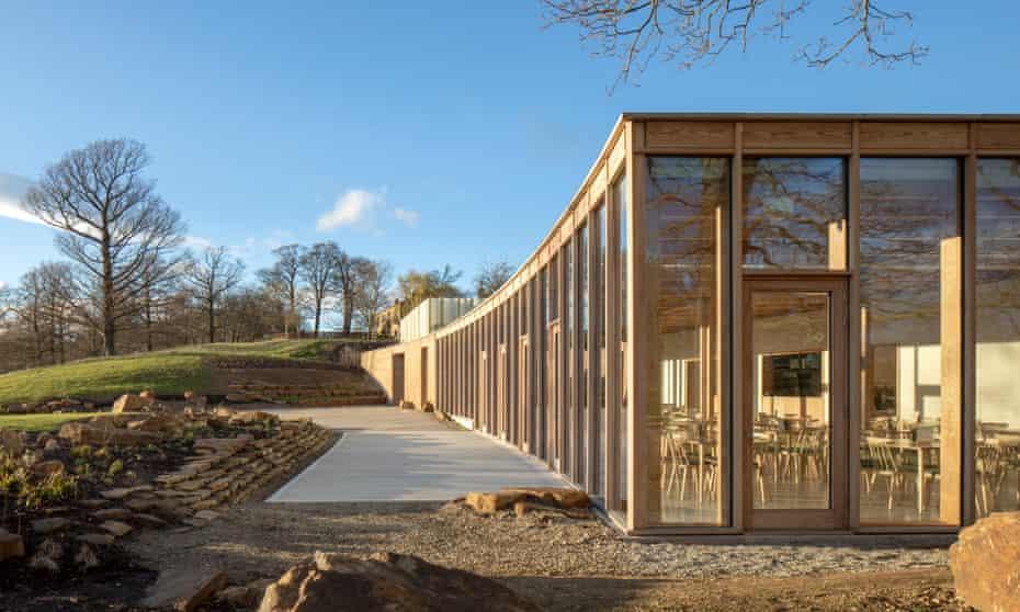 'A diaphanous freestanding pavilion' … The Weston visitor centre at Yorkshire Sculpture Park.