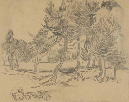 A Group of Pine Trees, 1889, by Van Gogh