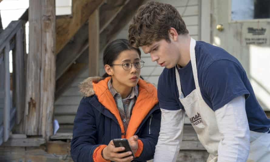 Leah Lewis and Daniel Diemer in The Half of It. What keeps the film mostly on track, even in its scrappier moments, is its central trio of accomplished young actors.