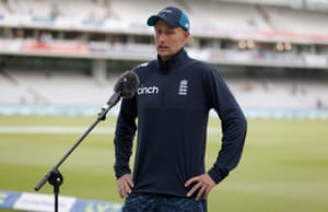 Joe Root is interviewed after the dull draw.