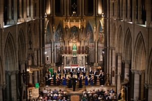 The Sixteen Choir perform at St James' church, Marylebone, London. 11/9/18