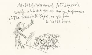 Matilda as Poet Laureate, imagined by Quentin Blake