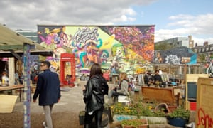 The Nomadic Garden behind Brick Lane, east London