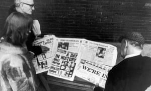 English newspapers announce the UK's entry into the EEC, 1 January 1973.