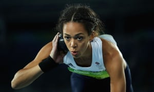 Katarina Johnson-Thompson in the shot put.