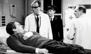 Tony Hancock in the famous blood donor sketch, 1961, written by Galton and Simpson.