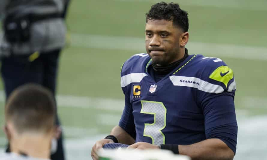 Russell Wilson is unhappy with his offensive line but is unlikely to leave Seattle