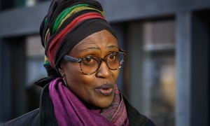 Winnie Byanyima answers questions during an interview with AFP ahead of the World Economic Forum in 2019.