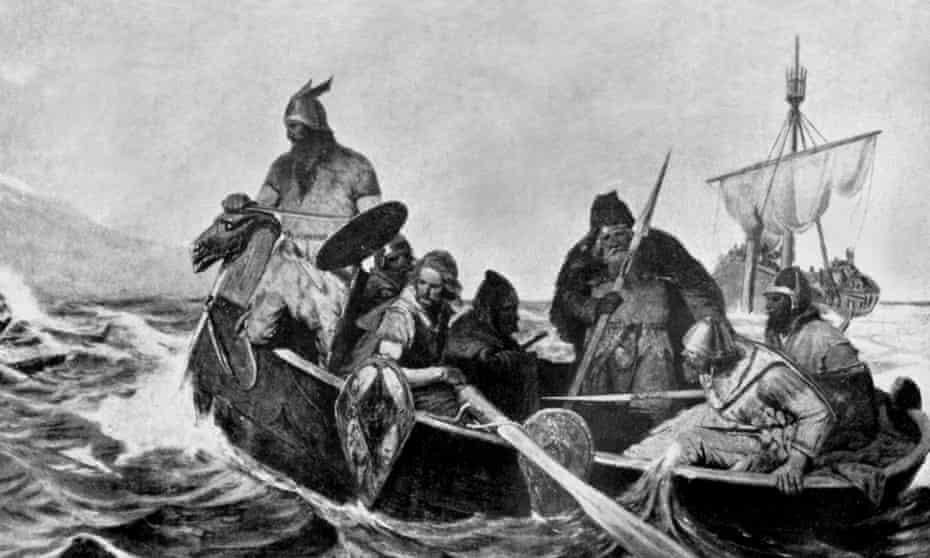 The Icelandic sagas depict a Viking presence in North America, led by Leif Erikson in a place called Vinland.