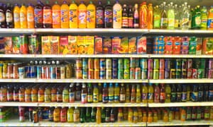 AGJ5K6 Choice of juices and soft drinks in small supermarket North London. Image shot 2006. Exact date unknown.