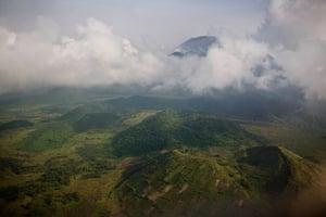 Mount Niyaragongo overlooking Goma