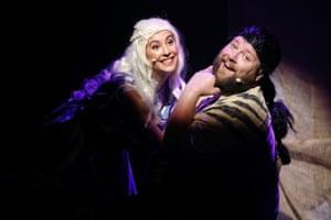 Mary Lou Kolbenshlag as Daenerys and Eric Michaud as Drogo