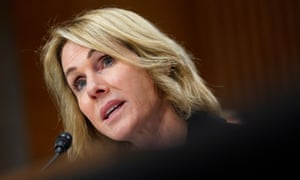 Kelly Craft testifies before a Senate foreign relations committee hearing on her nomination to be US ambassador to the United Nations on Wednesday.