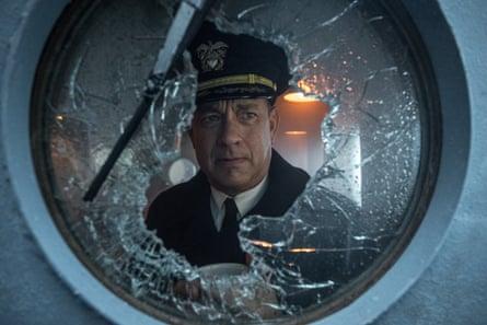 Hanks as Capt Ernie Krause in Greyhound.