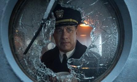 Troubled … Tom Hanks in Greyhound.