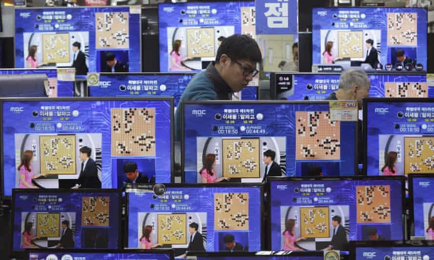 Google DeepMind challenge match between AI program AlphaGo and the South Korean professional Go player Lee Sedol.