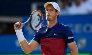 Andy Murray struggles in the second set.