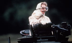 Thatcher rides a tank in Germany, 1986.