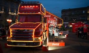 The Coca-Cola Christmas truck visits Huddersfield.