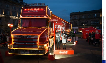 Coca-Cola is known for its nationwide Christmas truck tour