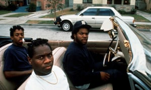 Ice Cube, right, as Doughboy, with Dedrick D Gobert, left, and Baldwin C Sykes, in John Singleton's 1991 film Boyz N the Hood.