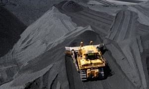 Stockpiled coal