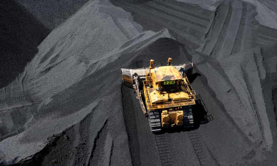 Stockpiled coal in Queensland