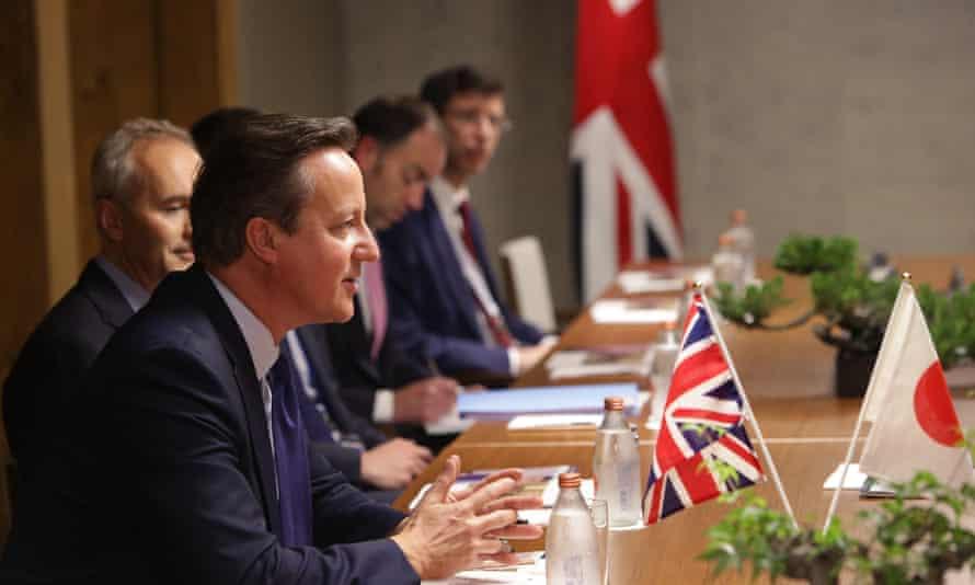 David Cameron at G7 summit