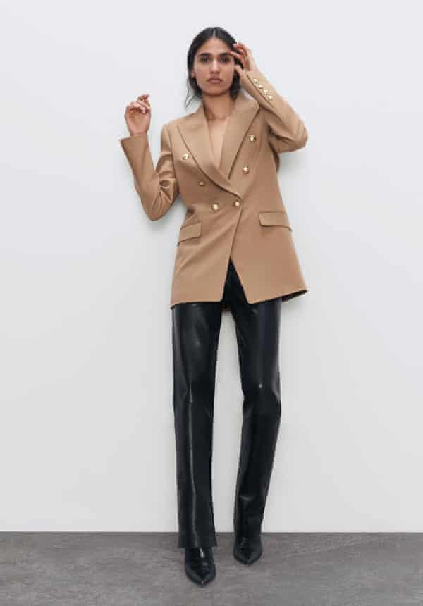 Camel blazer, £89.99, Zara