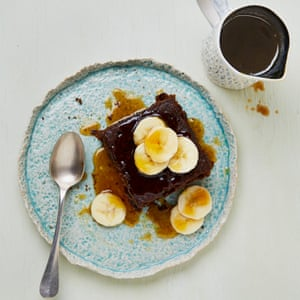 Meera Sodh's Yorkshire parkin with a whisky caramel sauce.