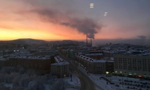 Murmansk during a 40-day polar night