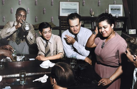 Billie Holiday and friends in 1939, in James Erskine's Billie, which uses colourised archival footage.