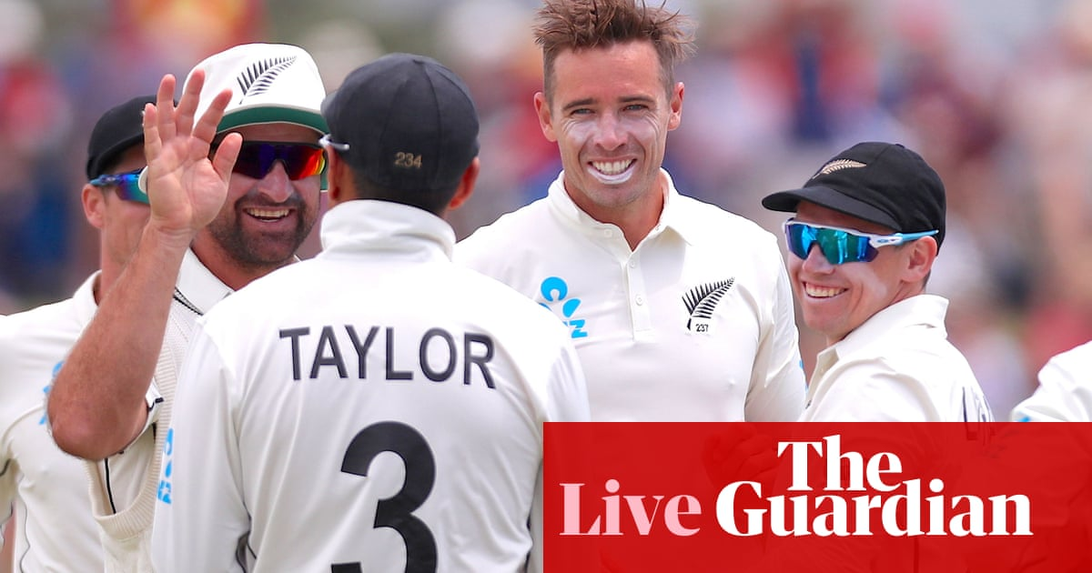 New Zealand v England: first Test, day two – live! | Sport