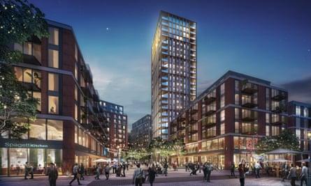 An image of Weston Homes' Anglia Square proposal.