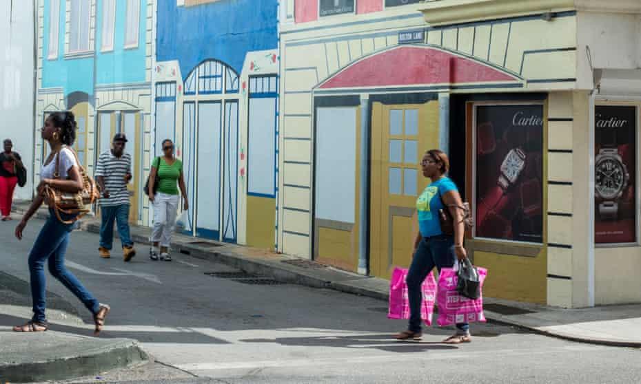 Street life: colourful buildings in Bridgetown.