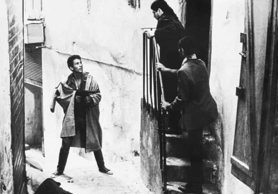 Gillo Pontecorvo's exraordinary 1966 film The Battle of Algiers.