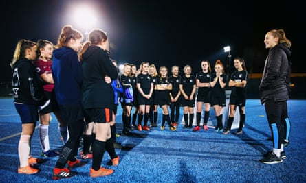 Manchester City's Keira Walsh at a clinic to promote girls' football in February.