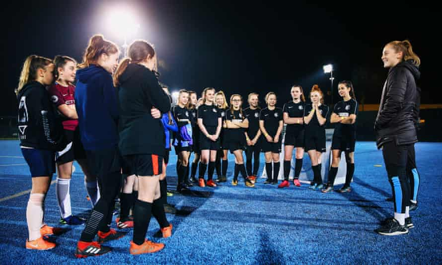 Manchester City's Keira Walsh at a #SameGoals clinic to promote girls' football at the club's Football Academy last February.