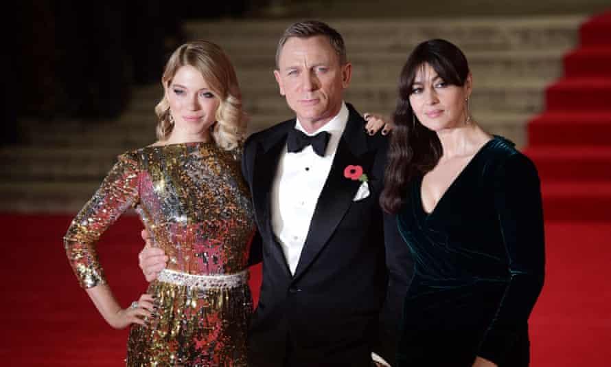 Spectre co-stars Léa Seydoux, Daniel Craig