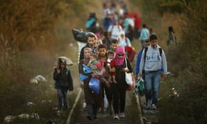 Migrants Make Their Way Towards Hungary