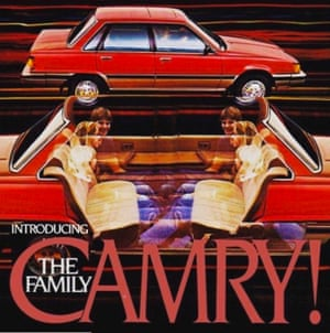 Bryan Thompson created this photoshop from a 1980's Toyota Camry ad to illustrate how the car of the future will look like from the inside, with a wider cabin facilitating headspace throughout.
